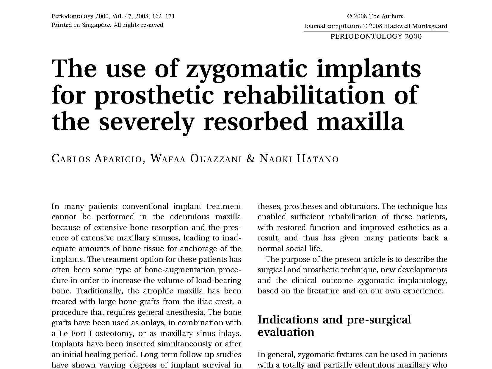 2008 Zygomatic Technique